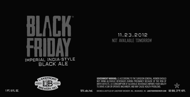 'Black Friday' Beer by Lakefront Brewery
