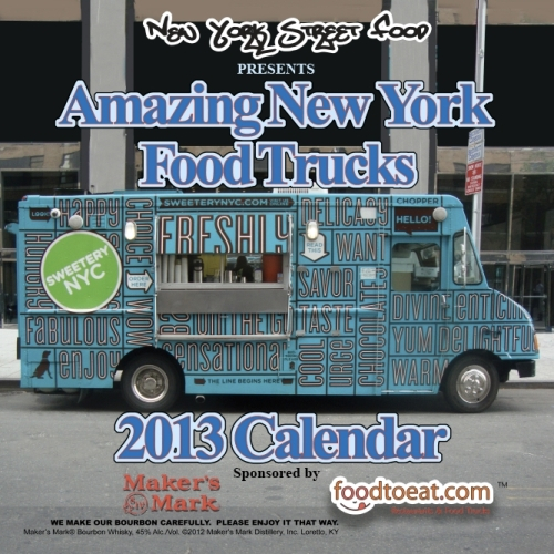 New York Food Trucks 2013 calendar