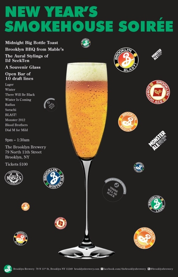 Brooklyn Brewery New Year's Eve Party: 'Smokehouse Soirée'