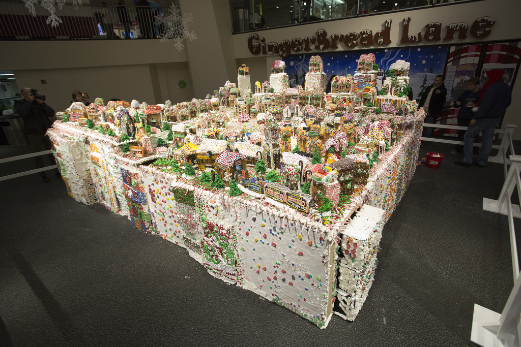 see the worlds largest gingerbread village at ny hall of science in queens lookytasty